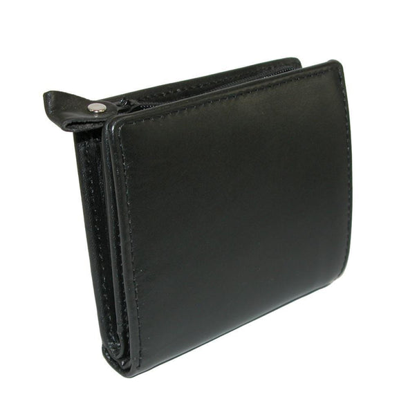 Men's Leather with Zippered Coin Pocket Wallet