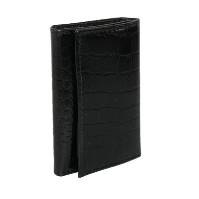 Leather Croc Print Key Case and Card Holder