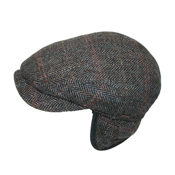 Men's Harris Tweed Longshoreman Cap with Earflaps