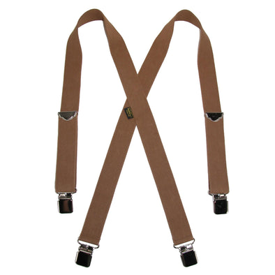 Men's Big & Tall Elastic Clip End Double Face Suspenders