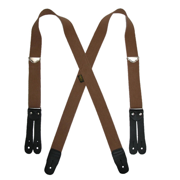 Men's Elastic Button End Double Face Suspenders