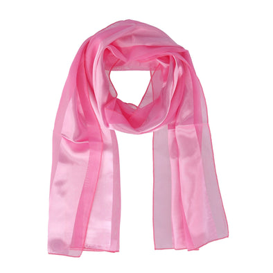 Women's Classic Long Solid Satin Scarf
