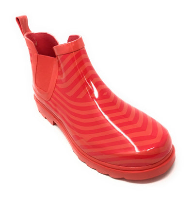 Women's Chevron Print Rubber Rain Shoes