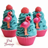 Pink Flamingo Cupcake Soap