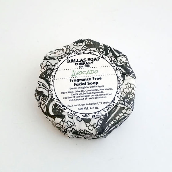 Avocado Face Soap - Unscented Fragrance Free