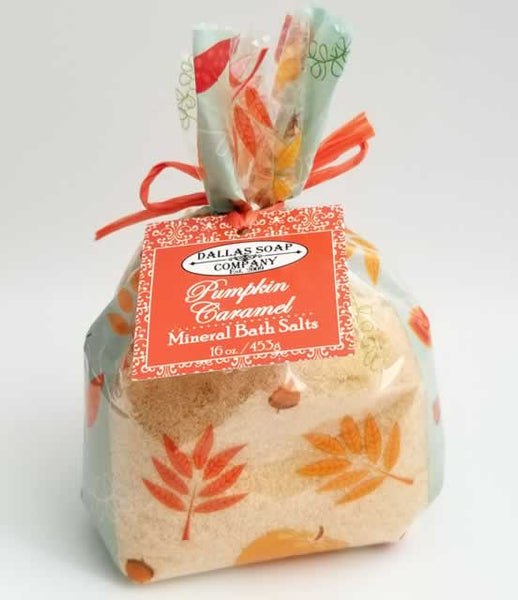Pumpkin Caramel Mineral Bath Salt - 1 lb Gift Bag