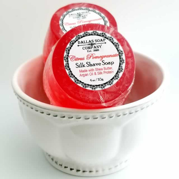 Citrus Pomegranate Silk Shave Soap