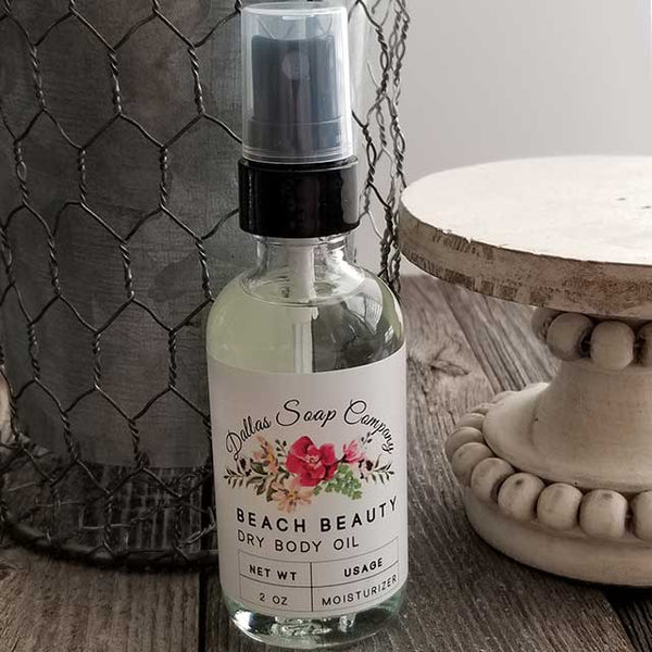 Beach Beauty Dry Oil Body Spray - Dallas Soap Company