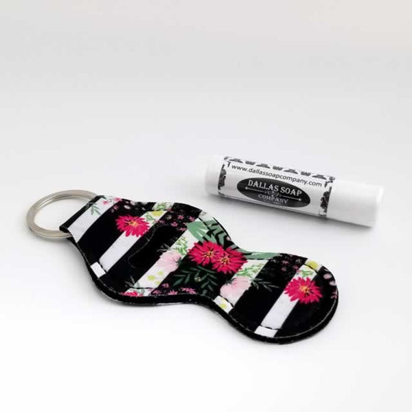 Black & White Stripe Lip Balm Holder