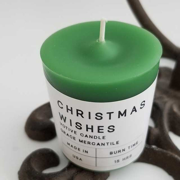 Christmas Wishes Votive Candle