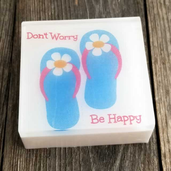 Don't Worry Be Happy Flip Flop Soap