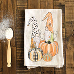 Fall Gnomes and Pumpkin Tea Towel