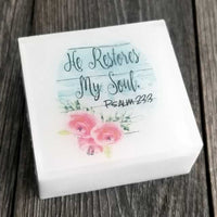 He Restore My Soul Scripture Soap by Dallas Soap Company
