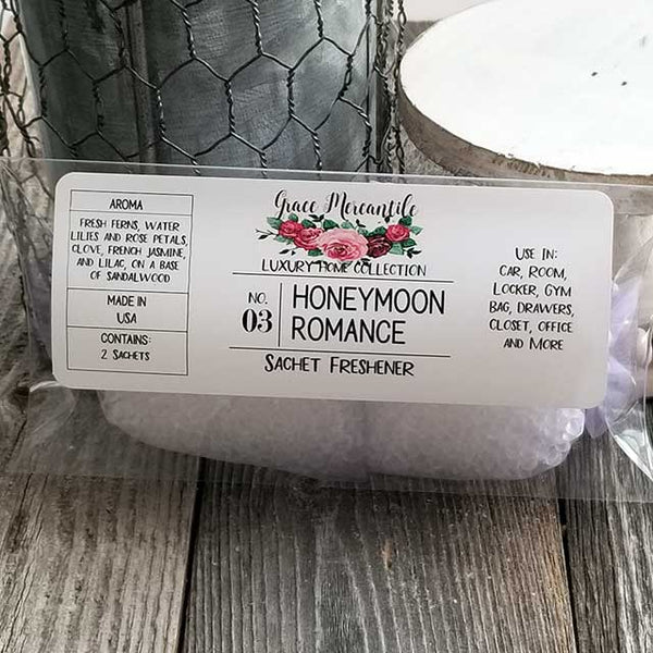 Honeymoon Romance Sachet - Dallas Soap Company DSC