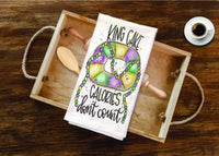 Mardi Gras King Cake Tea Towel