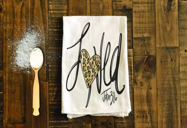 Loved - John 3:16 Tea Towel by Grace Mercantile