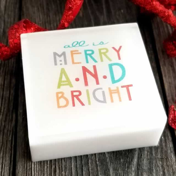 Merry & Bright Christmas Soap