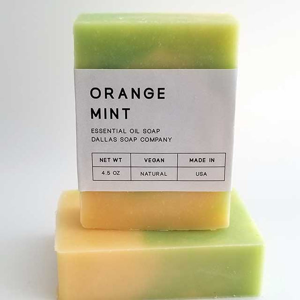 Orange Mint Essential Oil Soap Dallas Soap Company