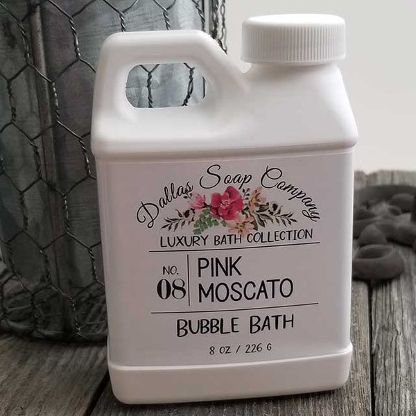 Pink Moscato Bubble Bath by Dallas Soap Company DSC