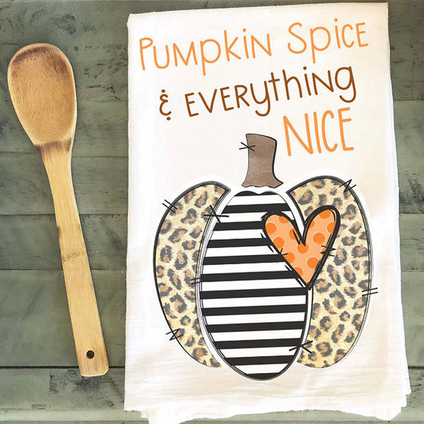 Pumpkin Spice Leopard Tea Towel