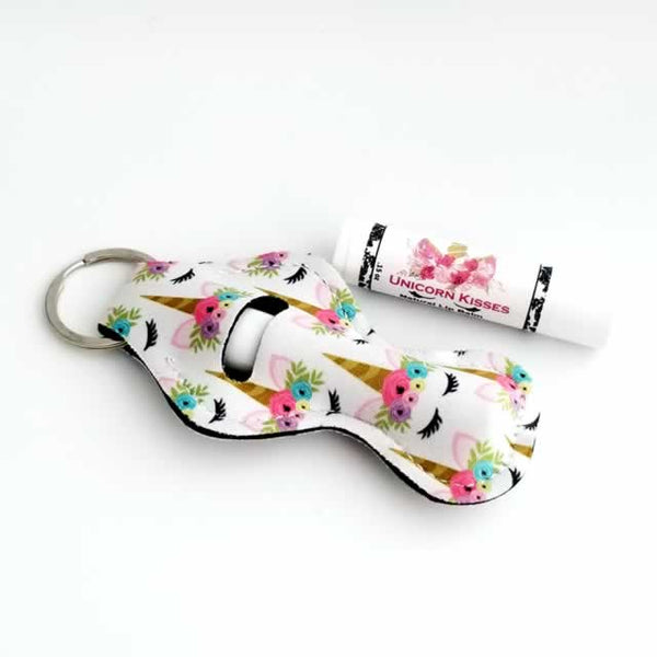 Unicorn Lip Balm Holder Key Ring - Dallas Soap Company
