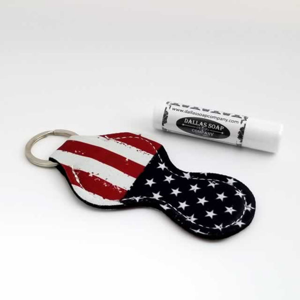 US Flag Patriotic Lip Balm Holder Dallas Soap Company