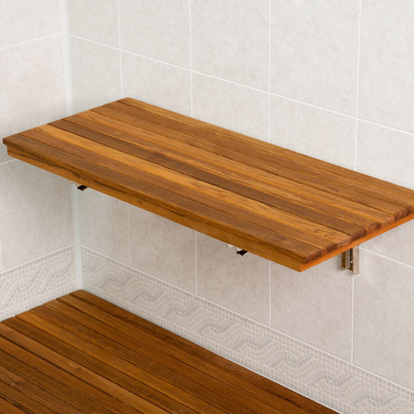 Teak Wall Mounted Shower Benches