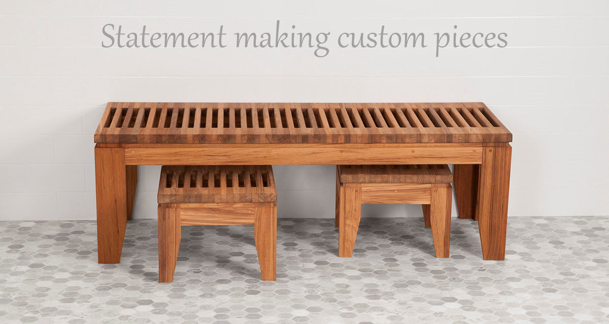 Stunning Teak benches and stools handcrafted by Teakworks4u