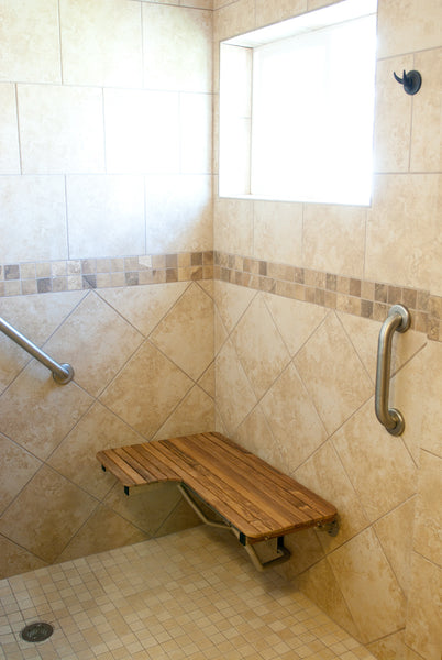 30 Quot Wide Teak Ada Right Hand L Shaped Shower Seat