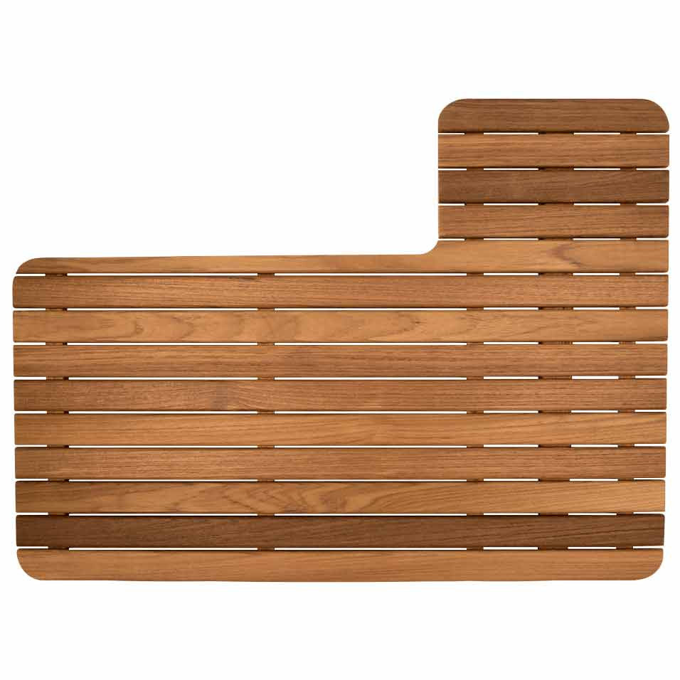 Teak Shower Mat for Airstream 27 Front Bedroom Trailer
