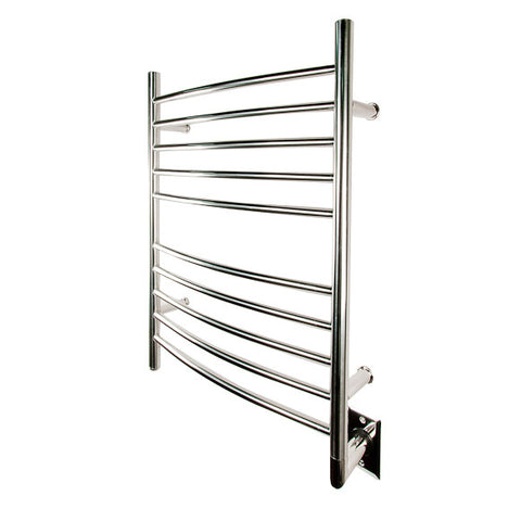 Amba Radiant Curved Towel Warmer from Teakworks4u - Hardwired model