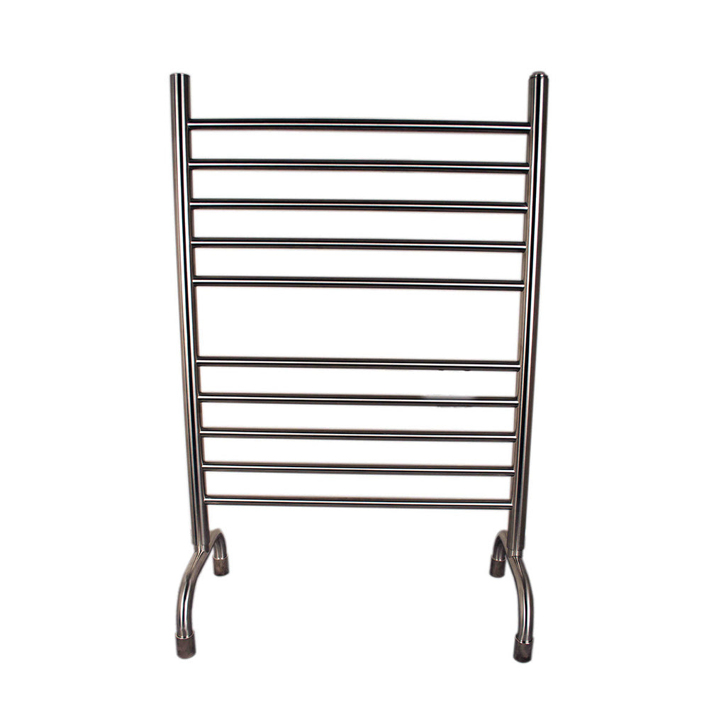 This freestanding towel warmer fits any style home.