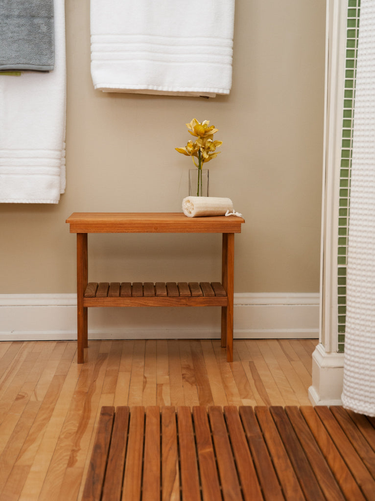 Teak Shower Benches from Teakworks4u make a great addition to any home.