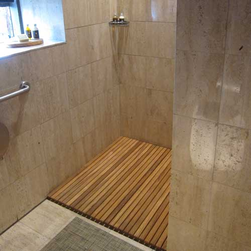 Installing Hardwood Flooring In Bathroom: Design Your Custom Teak Mat