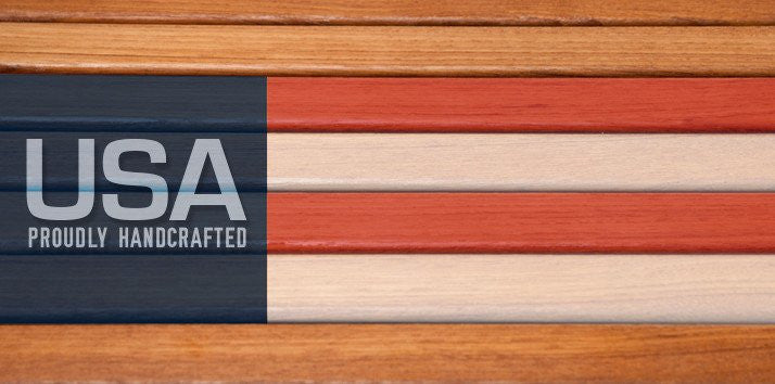 All Teakworks4u Teak Shower Bench Seats are Made in The USA