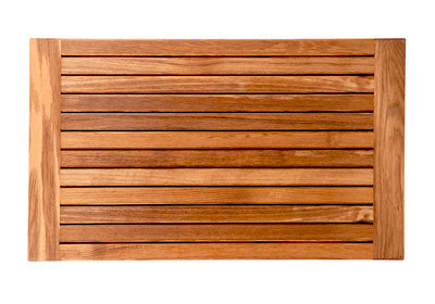 Plantation Teak Mat with Banded Side Edges
