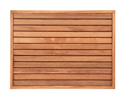 Plantation Teak Mat with Narrow Edge Framing