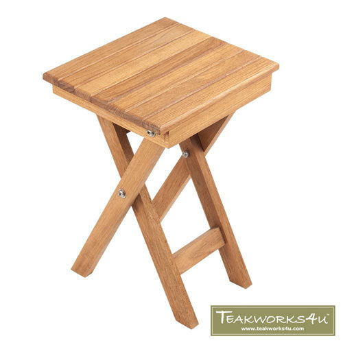 "11"" x 9"" x 16"" Folding Teak Accent Bench/Table"