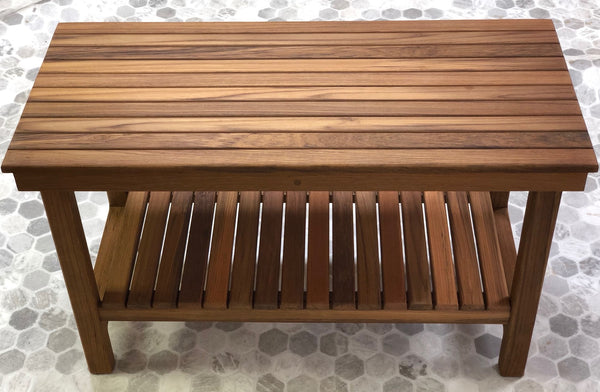 "30"" x 14"" Heavy Duty Teak Rigid Bench"