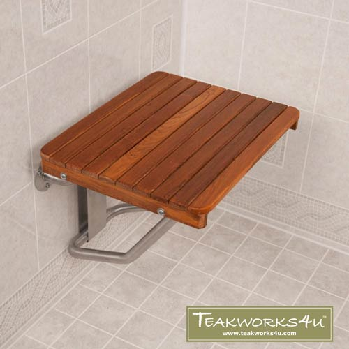 Burmese Teak ADA Shower Bench Seat