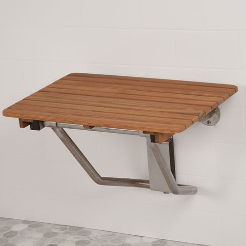 "24"" Wide Teak ADA Shower Bench Seat"