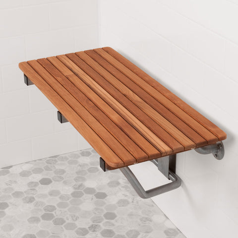 "28"" Wide Teak ADA Shower Bench Seat"