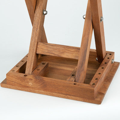 Detail image of Scissor Leg Teak Shower Bench