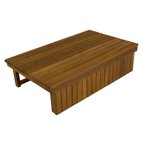 "28"" x 16"" x 7""H Teak Elevated Shower Mat or Step"
