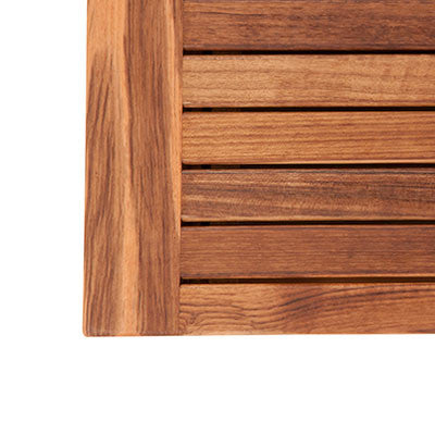 Detail of Banding on Teak Mat with Banded Side Edges