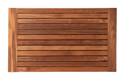 Burmese Teak Mat with Banded Side Edges