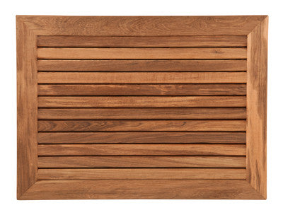 "30"" x 23"" Teak Bath or Shower Mat with Wide Edge Framing"