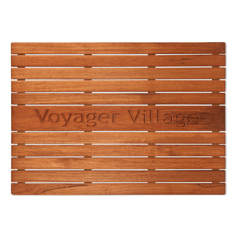 "25"" x 18"" Personalized Teak Mat"