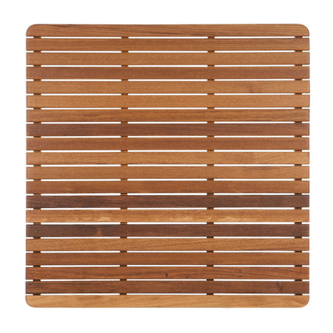 "Teak Bath or Shower Mat with Rounded Corners (30"" x 30"")"