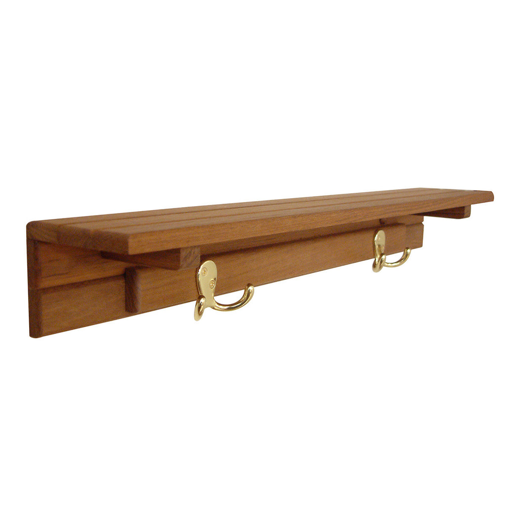 Shelf with Two Hooks
